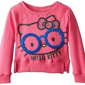 Hello Kitty Sweatshirt Studded Graphic Face Fleece
